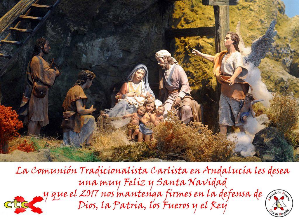 Muy Feliz y Santa Navidad les desea la Comunión Tradicionalista Carlista en Andalucía.